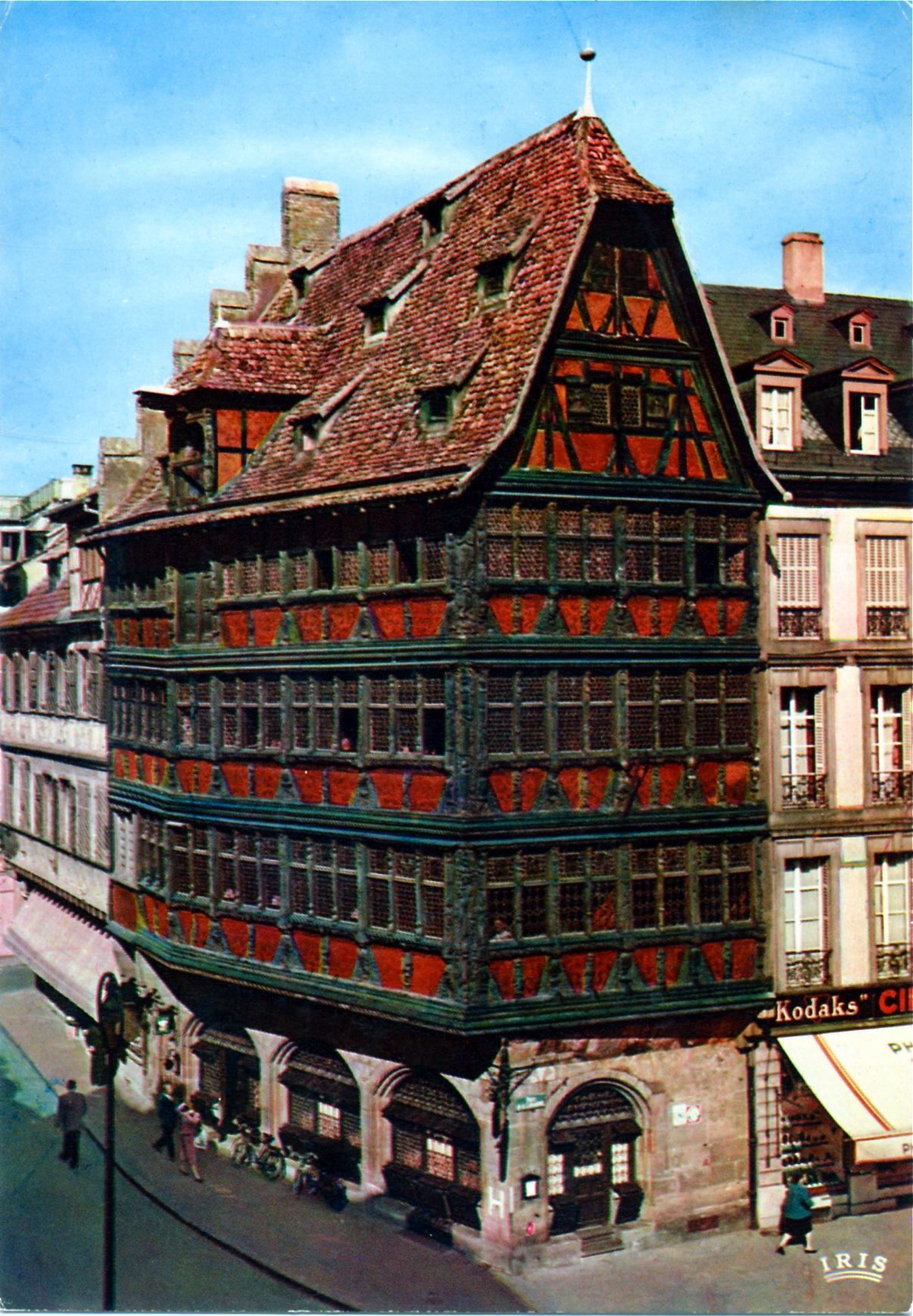 photo strasbourg 67000 maison kammerzell vers 1970 carte postale strasbourg 212433. Black Bedroom Furniture Sets. Home Design Ideas