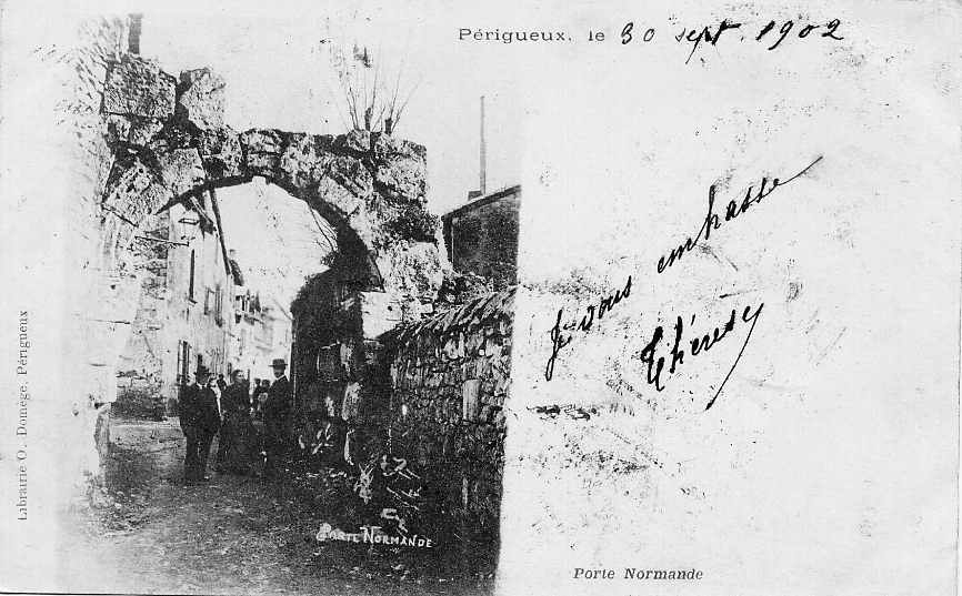 Photo p rigueux 24000 porte normande 1902 carte for Porte normande