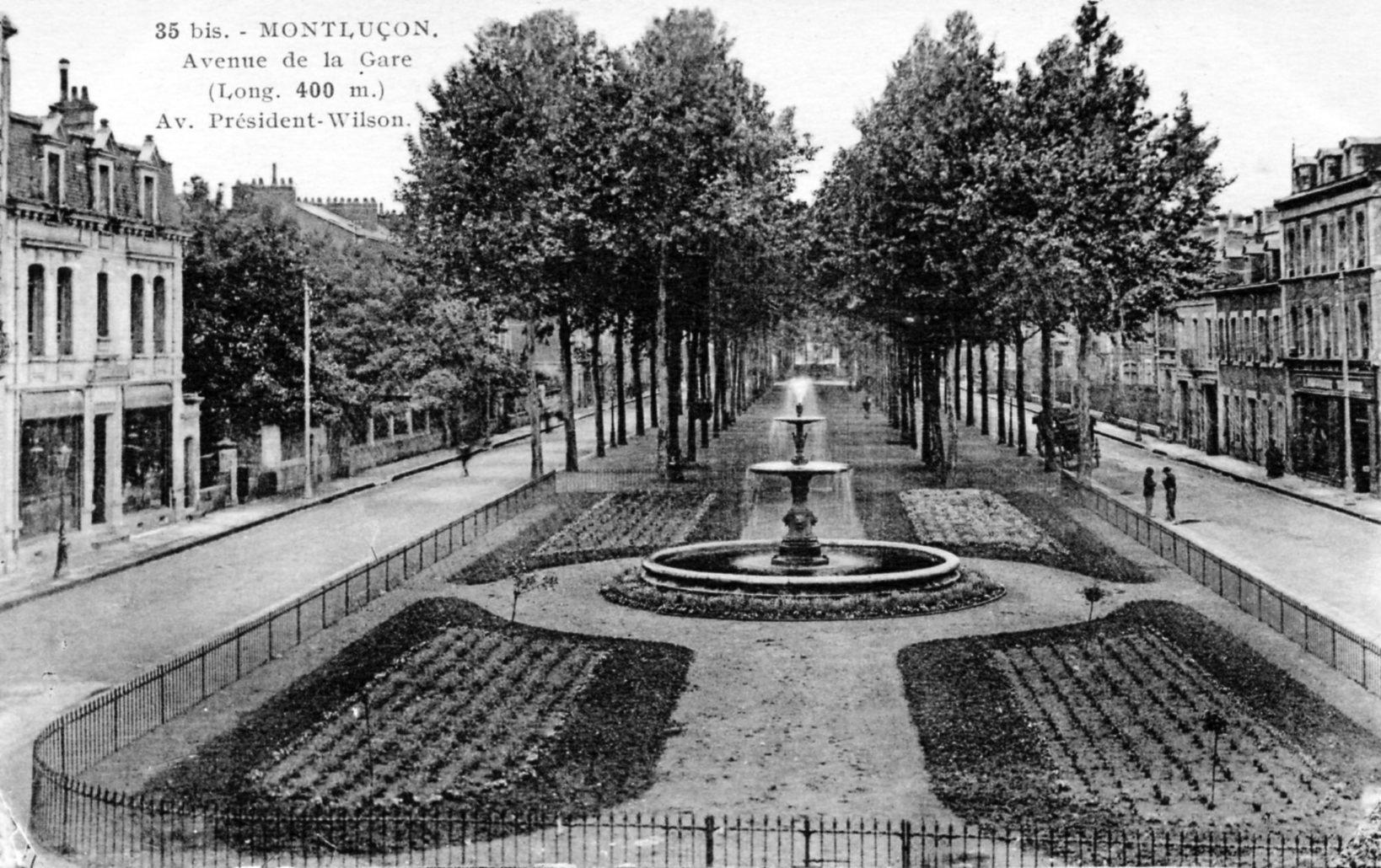 photo montlu on 03100 avenue de la gare long 400m av pr sident wilson vers 1920. Black Bedroom Furniture Sets. Home Design Ideas