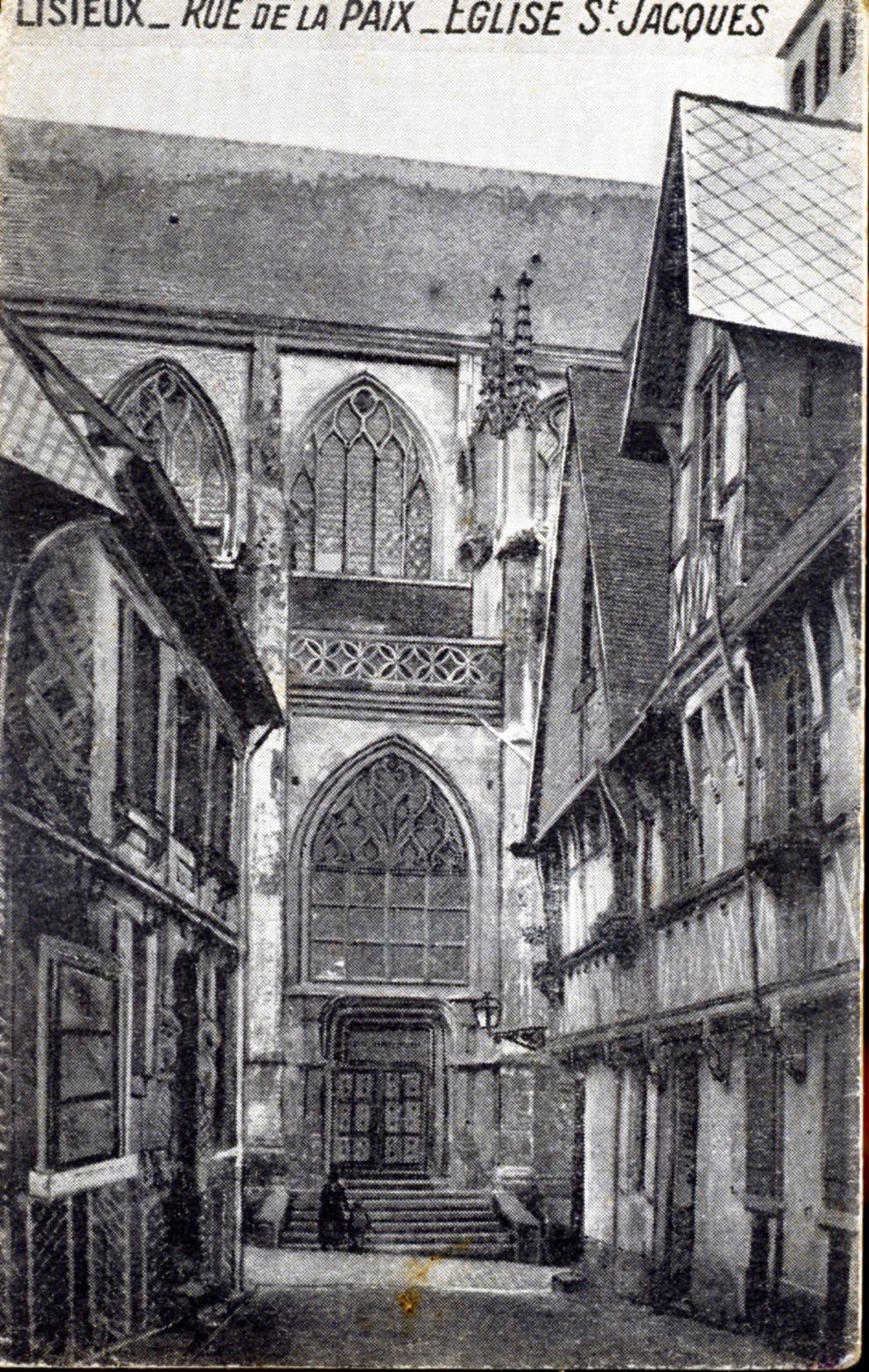 photo lisieux 14100 rue de la paix eglise saint jacques vers 1910 carte postale. Black Bedroom Furniture Sets. Home Design Ideas