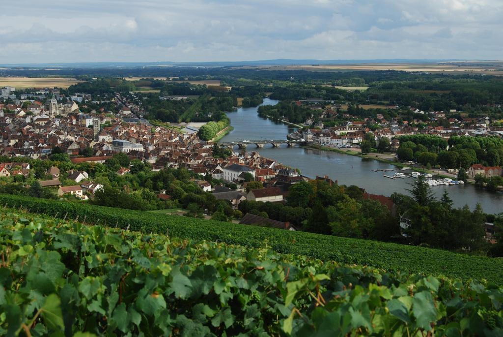 Photo joigny 89300 vue de joigny prise d 39 une colline for Piscine de joigny