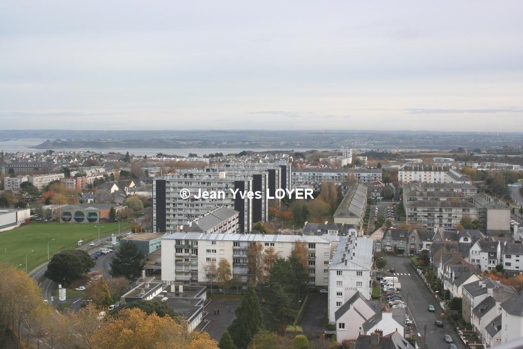 photo saint brieuc 22000 saint brieuc vue de la tour d 39 armor sur la terrasse du 19e et. Black Bedroom Furniture Sets. Home Design Ideas