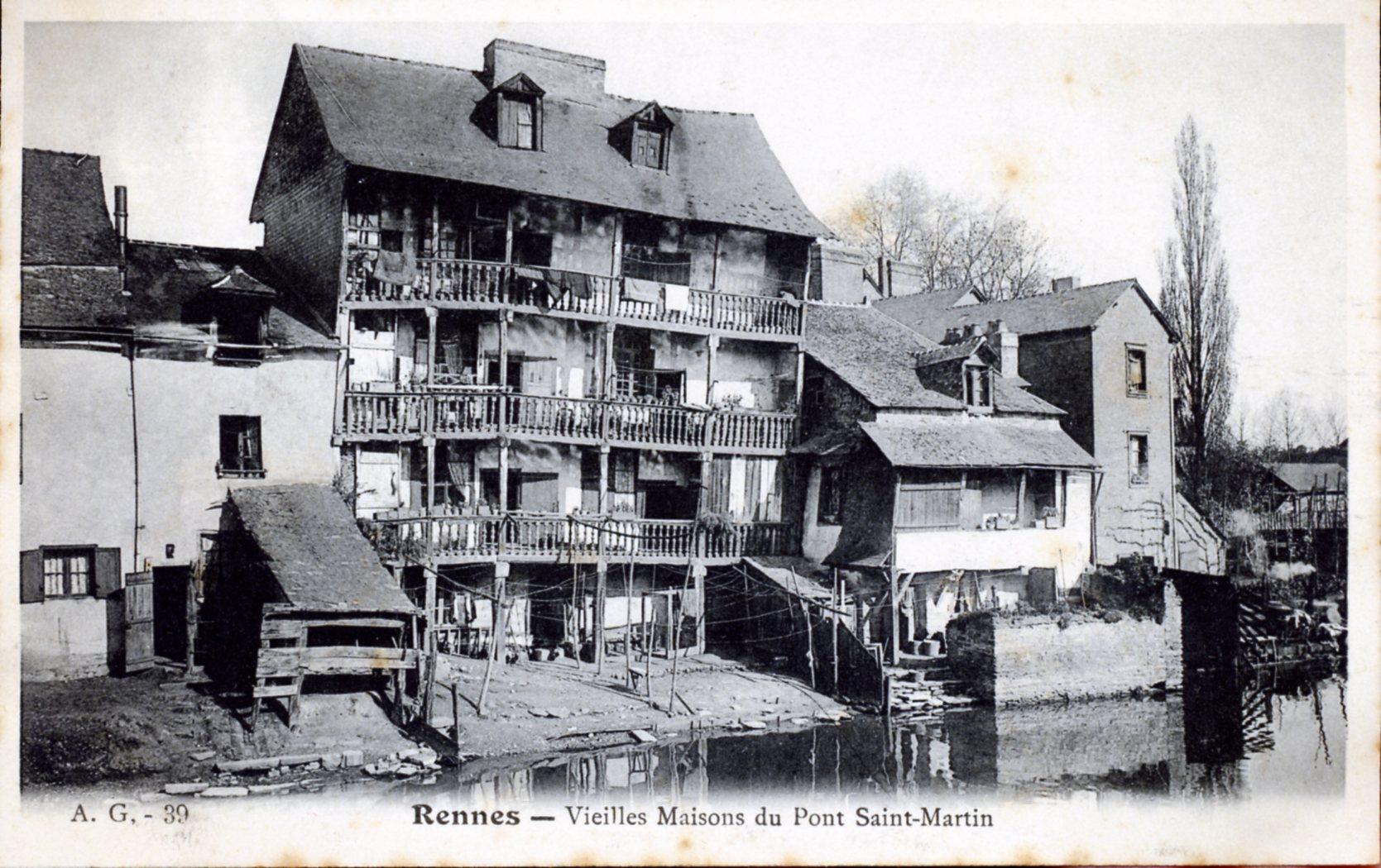 Photo rennes 35000 vieilles maisons du pont saint - Magasins de meubles rennes ille et vilaine ...