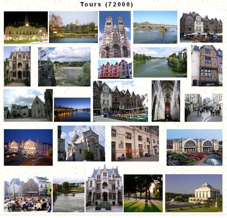 Photo tours 37000 mozaique de vues sur tours 37000 - Office de tourisme de tours indre et loire ...