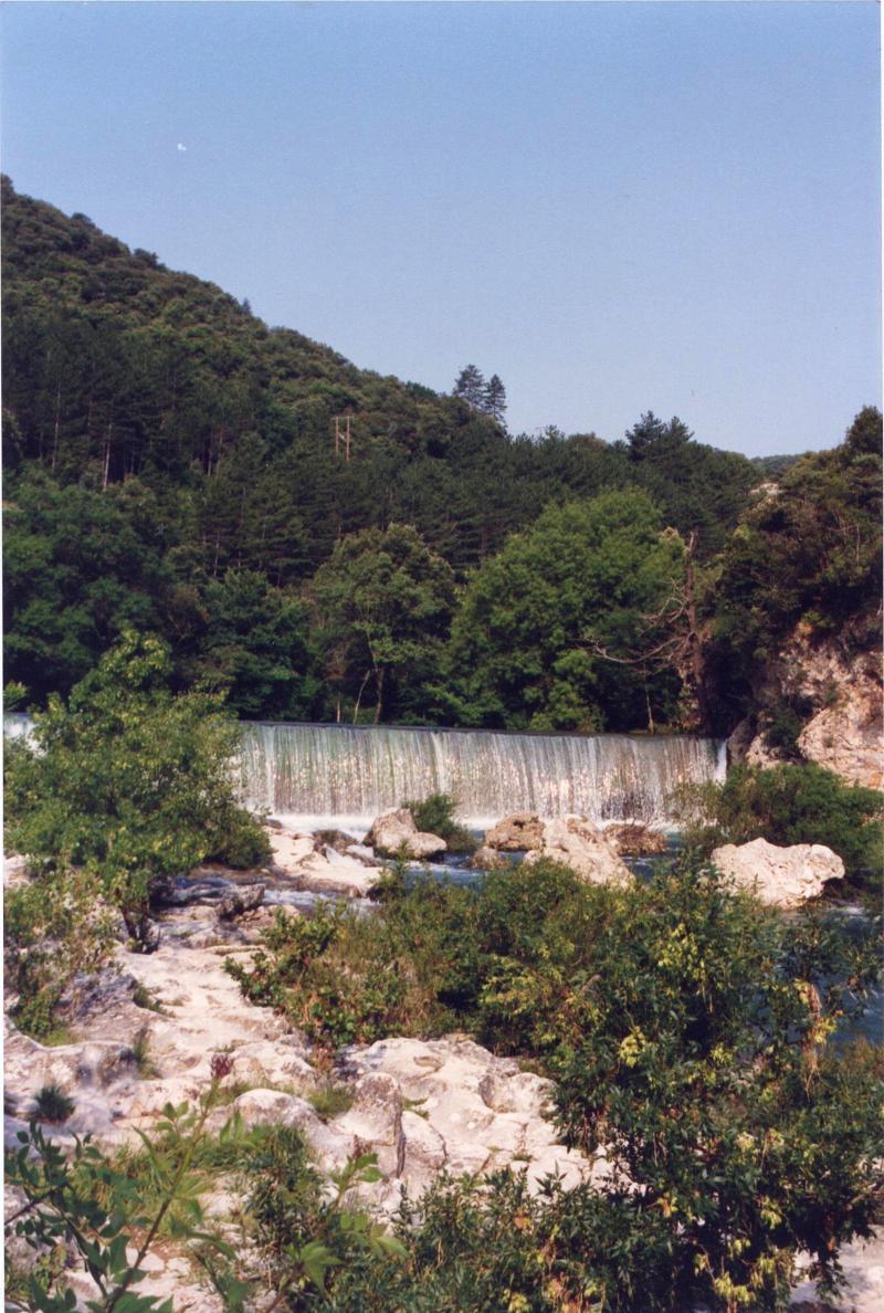 Photo saint laurent le minier 30440 la cascade vue - Piscine st laurent du pont ...