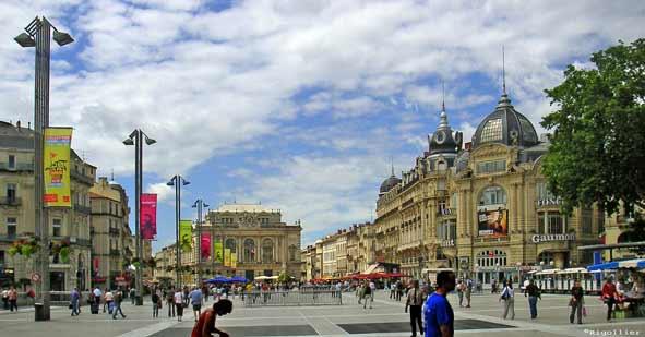 Photo montpellier 34000 place de la com die for Montpellier 34000