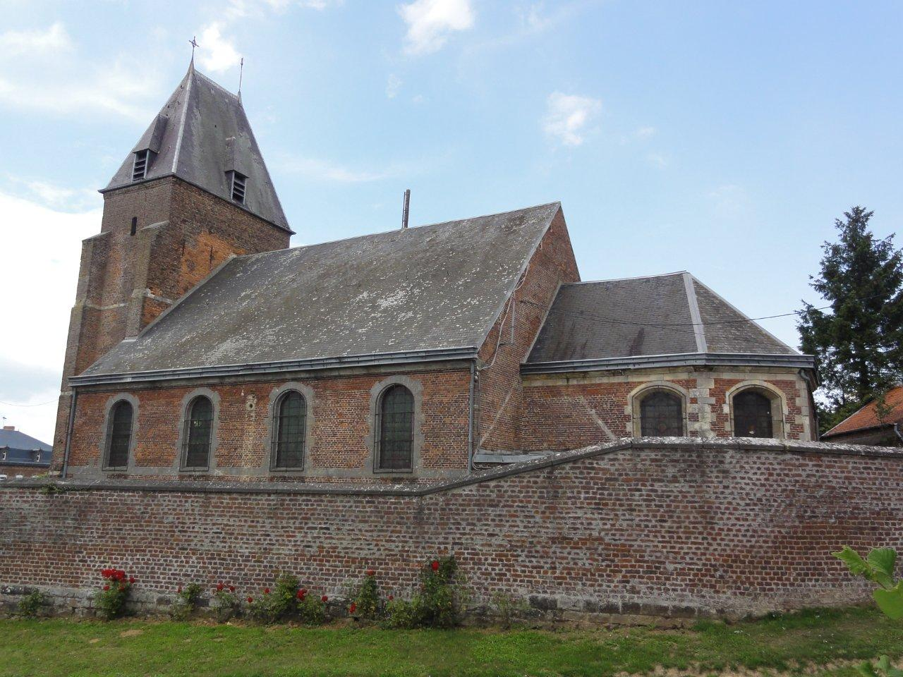 Photo à FontaineauBois (59550)  FontaineauBois (59550) église  ~ Fontaine Au Bois