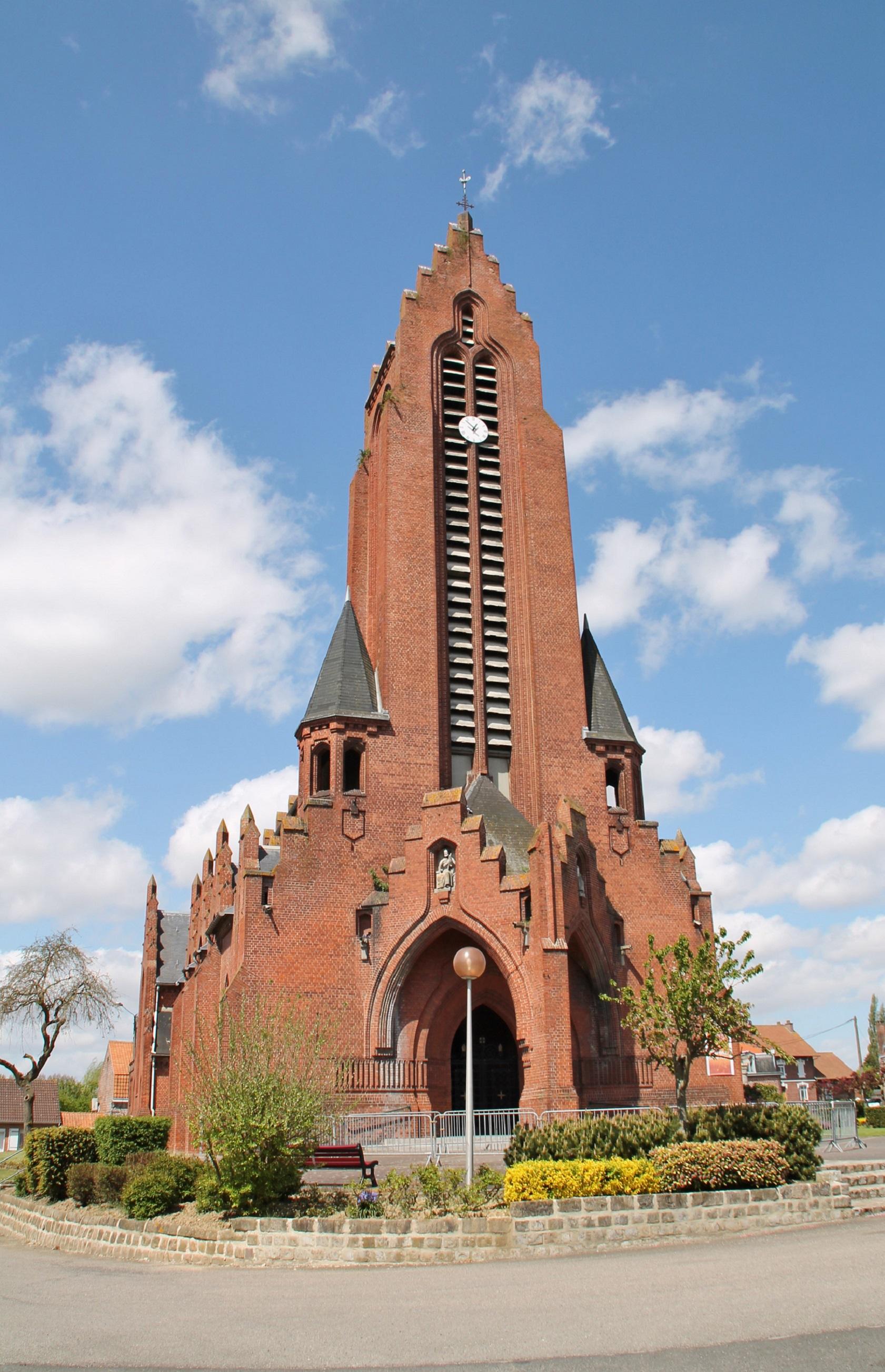 Photo à Merris (59270) : L'église - Merris, 186307 Communes.com