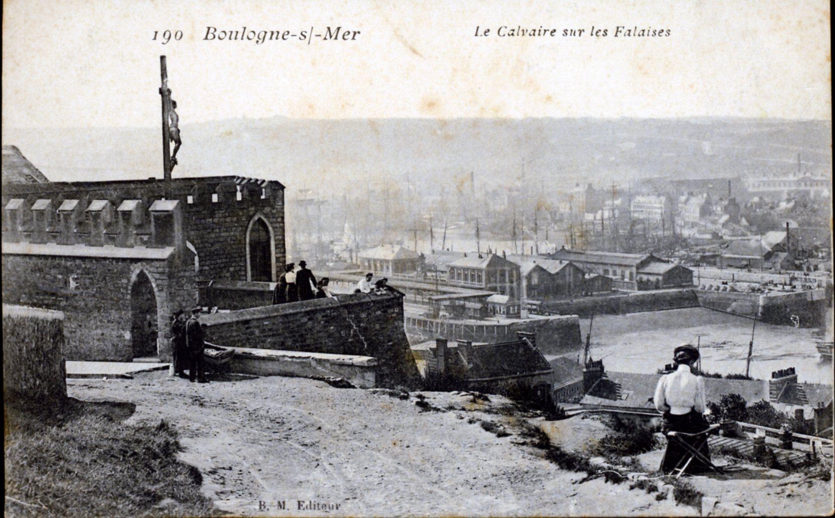 photo boulogne sur mer 62200 le calvaire sur les falaises vers 1917 carte postale. Black Bedroom Furniture Sets. Home Design Ideas