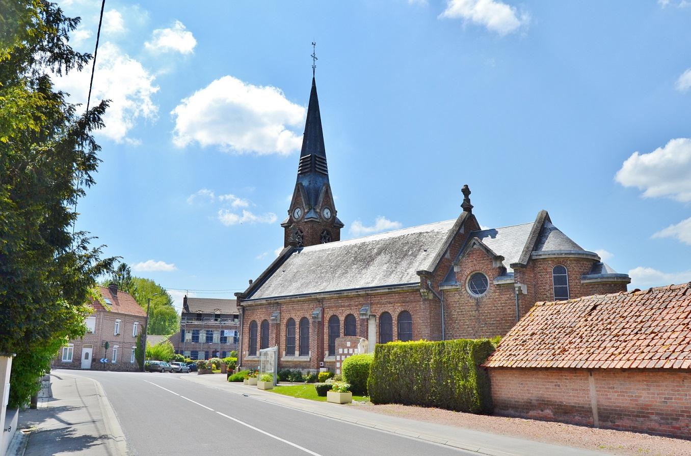 Photo à Saint-Floris (62350) : ²église Saint-Florent - Saint ...