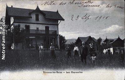 Photos et cartes postales anciennes de divonne les bains for Piscine de divonne