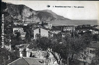 Photos et cartes postales anciennes de beaulieu sur mer 06310 - Meteo beaulieu sur mer ...