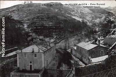Photos et cartes postales anciennes de saint julien du gua 07190 - Meteo st joseph des bancs ...