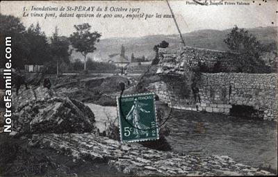 Photos et cartes postales anciennes de saint p ray 07130 for Cash piscine st peray