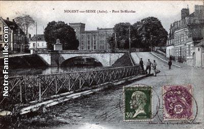 Photos et cartes postales anciennes de nogent sur seine 10400 - Piscine de nogent sur seine ...
