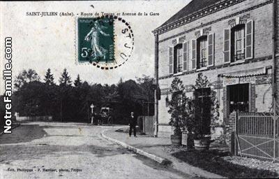 photos et cartes postales anciennes de saint julien les villas 10800. Black Bedroom Furniture Sets. Home Design Ideas