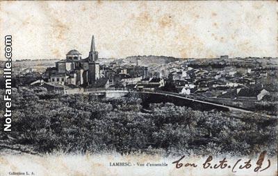 Plan De La Ville Lambesc