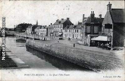 Photos et cartes postales anciennes de port en bessin - Camping la prairie port en bessin huppain ...