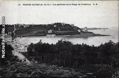 Plan Perroz Guirec Place Hotel De Ville