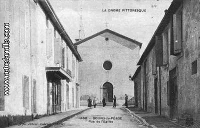 Photos et cartes postales anciennes de bourg de p age 26300 for Garage bourg de peage