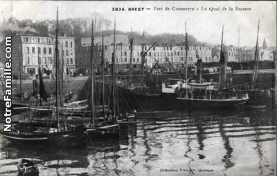 Photos et cartes postales anciennes de brest 29200 - Restaurant italien brest port de commerce ...