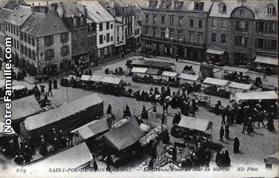 Photos et cartes postales anciennes de saint pol de l on for Piscine st pol de leon