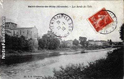 photos et cartes postales anciennes de saint denis de pile 33910. Black Bedroom Furniture Sets. Home Design Ideas