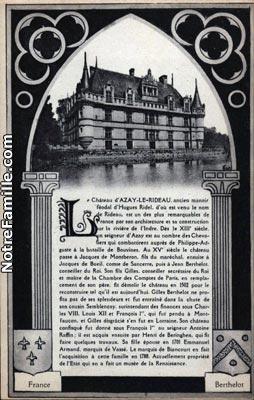 photos et cartes postales anciennes de azay le rideau 37190. Black Bedroom Furniture Sets. Home Design Ideas