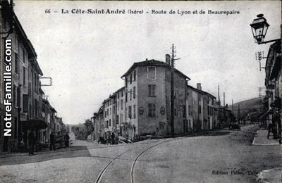 Photos et cartes postales anciennes de la c te saint andr for Piscine la cote st andre