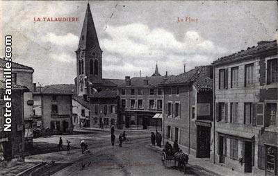 Photos et cartes postales anciennes de la talaudi re 42350 for Piscine la talaudiere