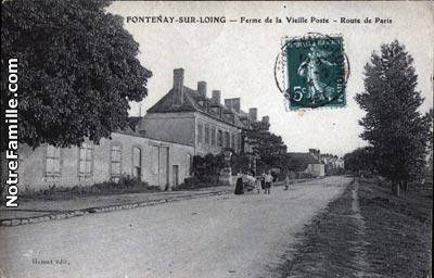 photos et cartes postales anciennes de fontenay sur loing 45210. Black Bedroom Furniture Sets. Home Design Ideas