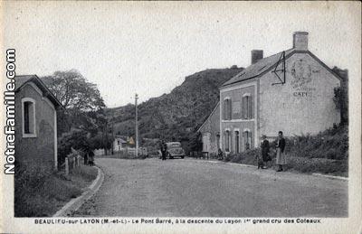 photos et cartes postales anciennes de beaulieu sur layon 49750