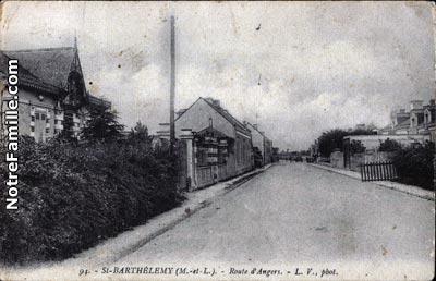 Photos et cartes postales anciennes de saint barth lemy d for Les 5 jardins saint barthelemy d anjou