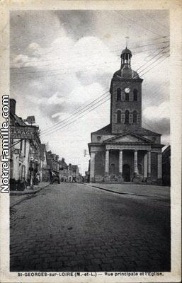 photos et cartes postales anciennes de saint georges sur loire 49170. Black Bedroom Furniture Sets. Home Design Ideas
