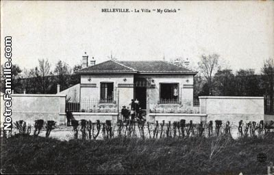 Photos et cartes postales anciennes de belleville 54940 for Plan de belle villa