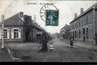 Photos et cartes postales anciennes de waziers 59119 for Piscine sin le noble