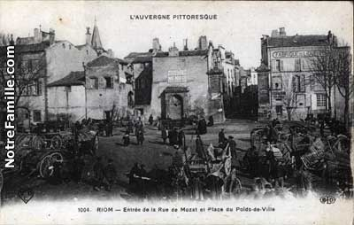 Photos et cartes postales anciennes de riom 63200 - Meteo riom 63 ...