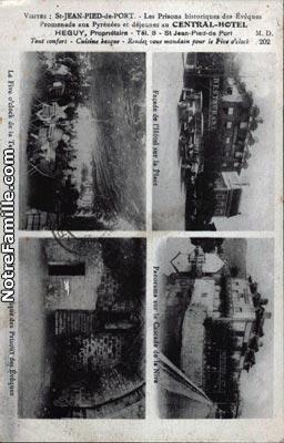 Photos et cartes postales anciennes de saint jean pied de - Hotel des pyrenees st jean pied de port ...