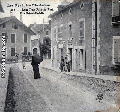 Photos et cartes postales anciennes de saint jean pied de port 64220 - Hotel des pyrenees saint jean pied de port ...