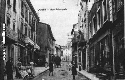 photos et cartes postales anciennes de cours la ville 69470