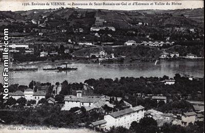Photos et cartes postales anciennes de saint romain en gal - Piscine st romain en gal ...