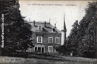 photos et cartes postales anciennes de la tour de salvagny 69890. Black Bedroom Furniture Sets. Home Design Ideas