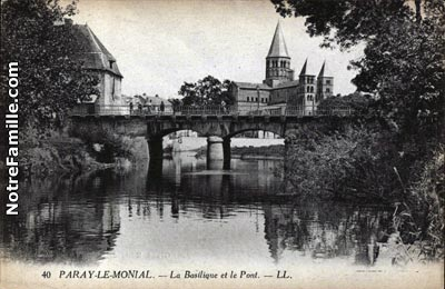photos et cartes postales anciennes de paray le monial 71600