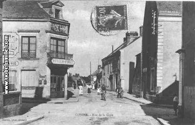 Plan De La Ville De Conlie Sarthe