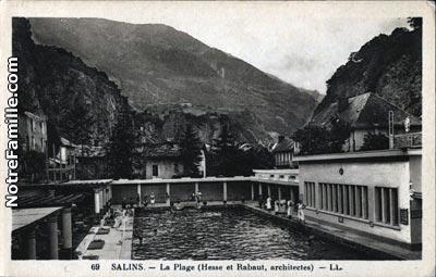 Photos et cartes postales anciennes de salins les thermes for Salins les thermes piscine