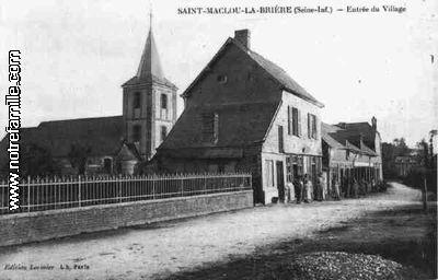 photos et cartes postales anciennes de saint maclou la bri re 76110. Black Bedroom Furniture Sets. Home Design Ideas