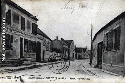 Photos et cartes postales anciennes de ach res la for t 77760 for Garage des communes acheres
