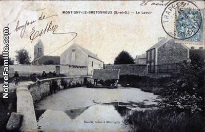 Photos et cartes postales anciennes de montigny le bretonneux 78180 - Piscine de montigny le bretonneux ...