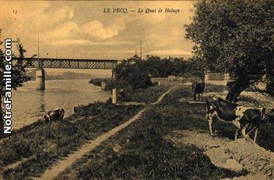 Photos et cartes postales anciennes de le pecq 78230 for Piscine le pecq