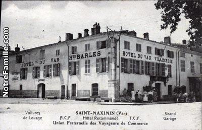 Photos et cartes postales anciennes de saint maximin la for Garage auto saint maximin la sainte baume